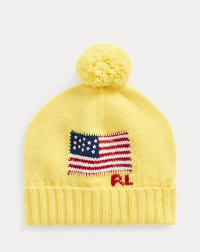 Flag Rib-Knit Merino Wool Hat