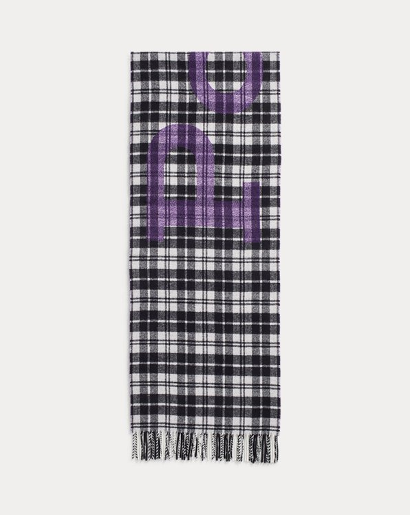 Écharpe jacquard de laine écossaise