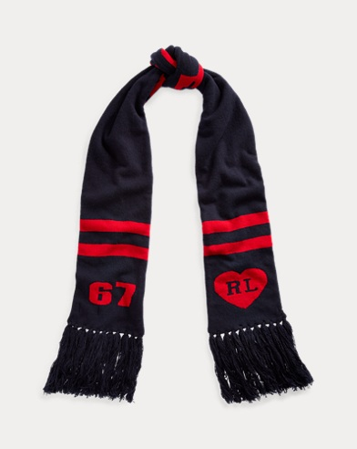 Graphic Wool-Blend Scarf