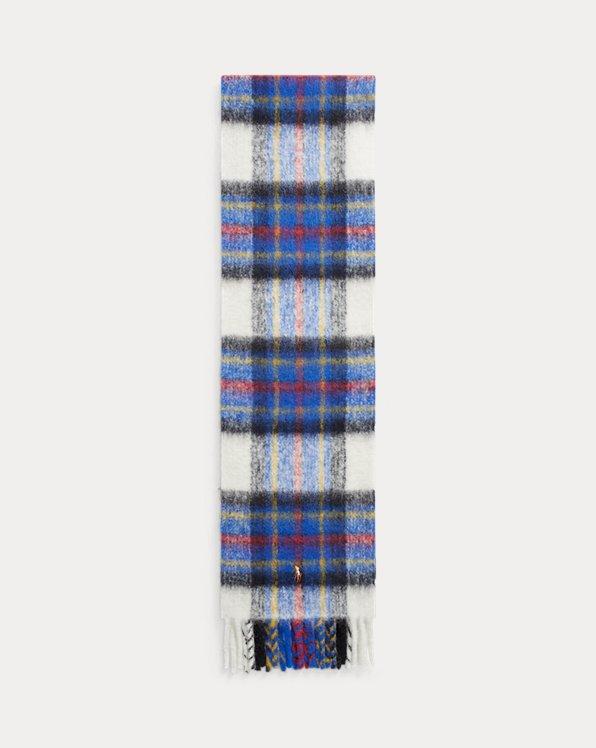Écharpe écossaise en laine mélangée