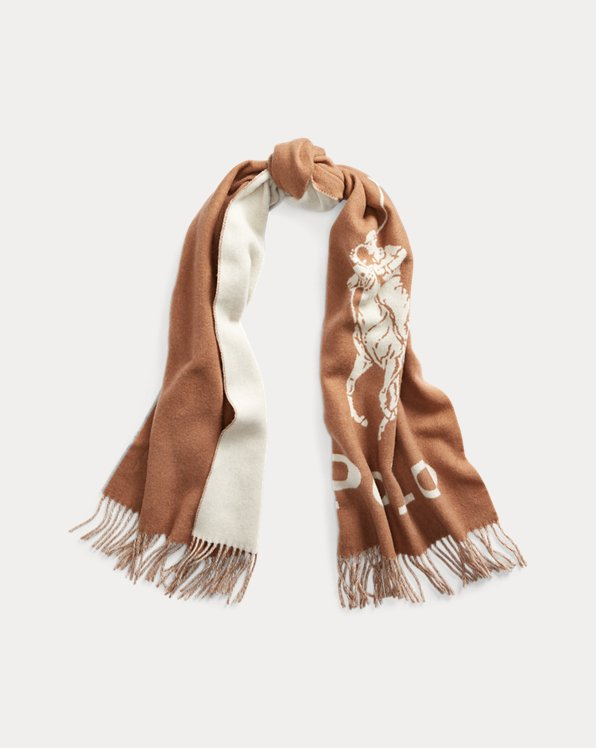 Wool-Blend Oversize Scarf