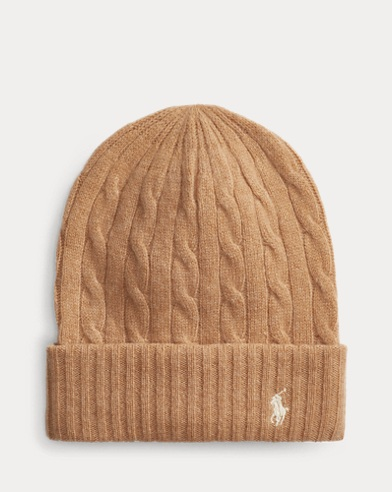 Cable-Knit Wool-Blend Hat