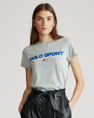 Maglietta Polo Sport in jersey