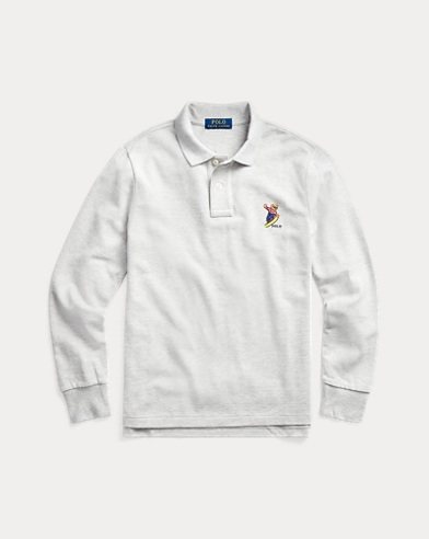Snowboard Bear Cotton Polo