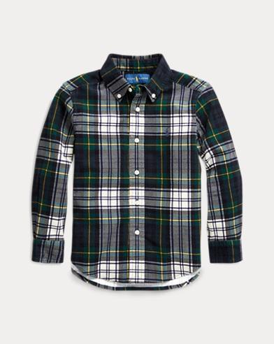 Tartan Cotton Corduroy Shirt