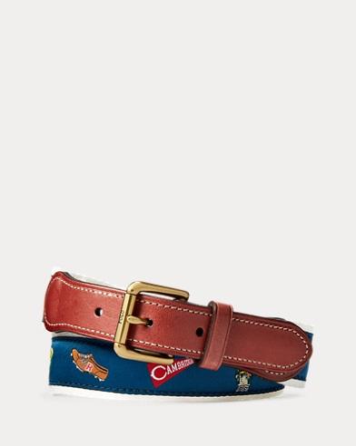 Webbed Cotton-Leather Belt