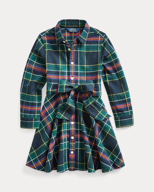 Girls 2-6x Plaid Cotton Shirtdress 1