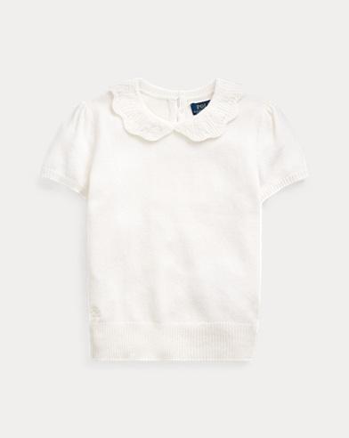 Pointelle Wool-Blend Sweater