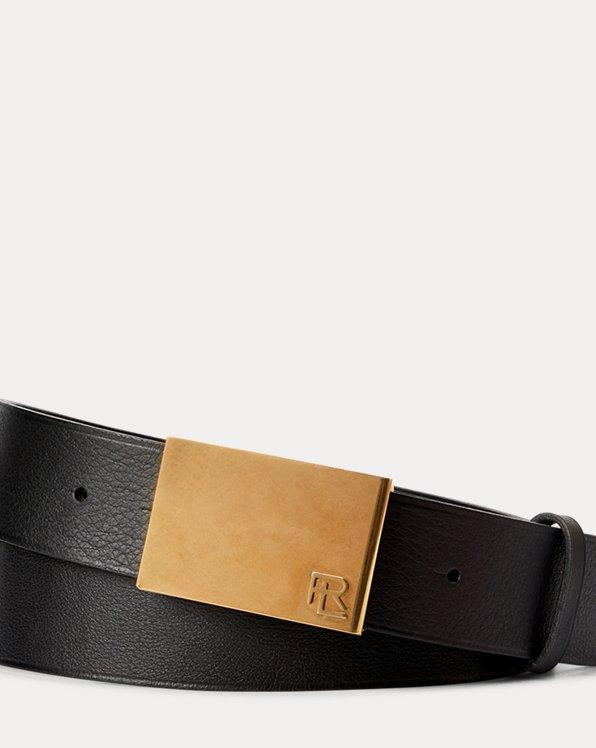 RL Plaque Leather Belt
