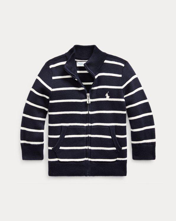 Jersey de algodón con cremallera completa