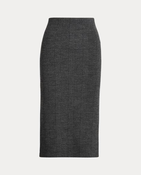 Falda de punto en lana de merino