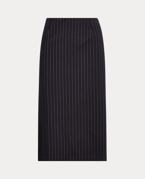 Pinstripe Ponte Skirt