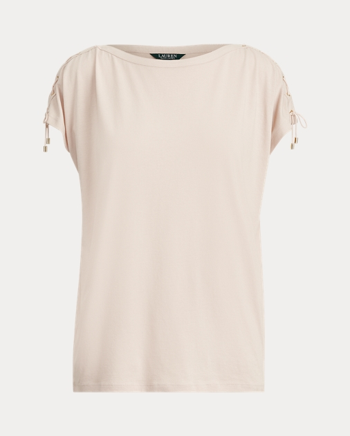 Polo RalphLauren Lace-Up-Sleeve Top