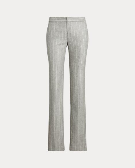 Pantalón de pernera recta con raya