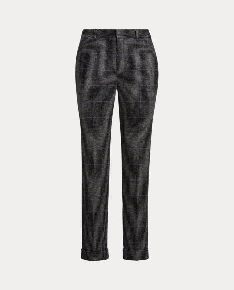 Straight Wool-Blend Pant