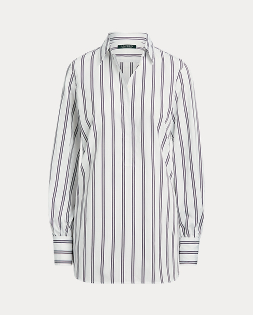 Polo RalphLauren Cotton Long-Sleeve Blouse