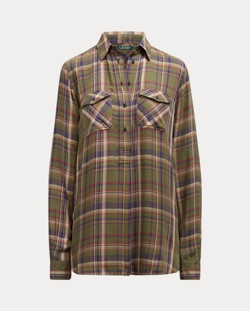 Polo RalphLauren Plaid Patch-Pocket Shirt