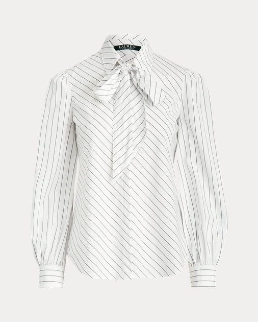 Polo RalphLauren Striped Necktie Blouse