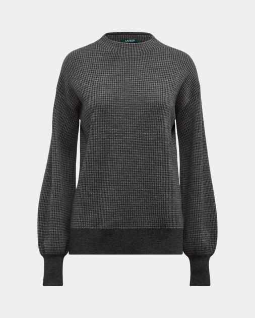 Wool Blouson Sleeve Sweater by Ralph Lauren