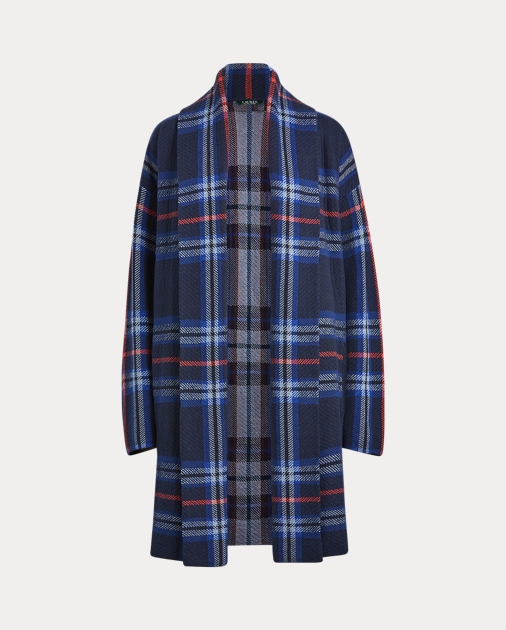 Plaid Cotton Blend Sweater by Ralph Lauren