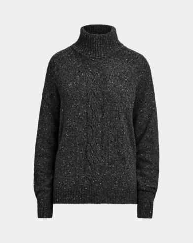 Pull en laine de mérinos mélangée