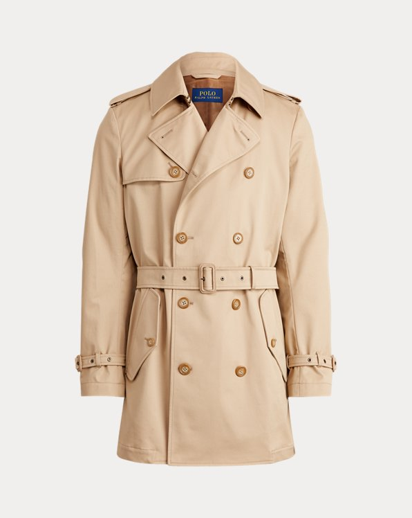 Stretch Chino Trench Coat