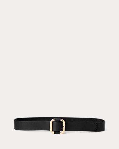 Slide-Buckle Leather Belt