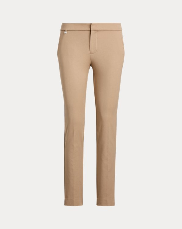 Cotton Twill Skinny Ankle Pant
