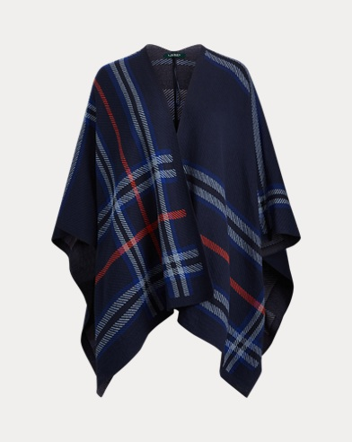 Cotton-Blend Poncho Sweater