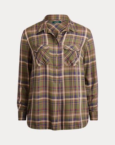 Plaid Patch-Pocket Shirt