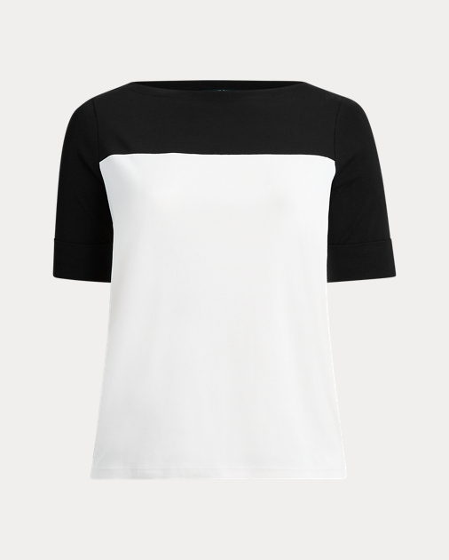 Polo RalphLauren Cotton-Blend Boatneck Top