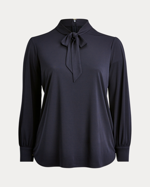Polo RalphLauren Neck-Tie Jersey Top