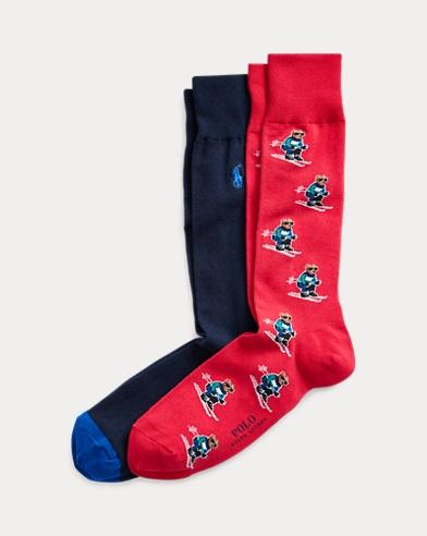 Ski Bear Dress Sock 2-Pack