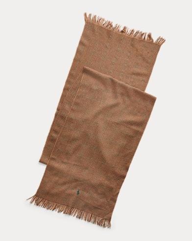 Écharpe en laine de mérinos à motif