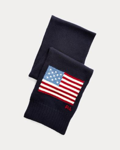 Écharpe drapeau en laine de mérinos