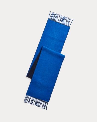 Écharpe réversible laine mélangée