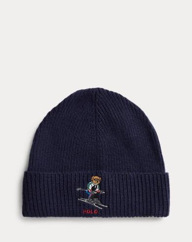 Bonnet ourson skieur