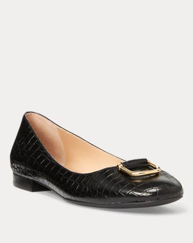 Galyn Leather Flat