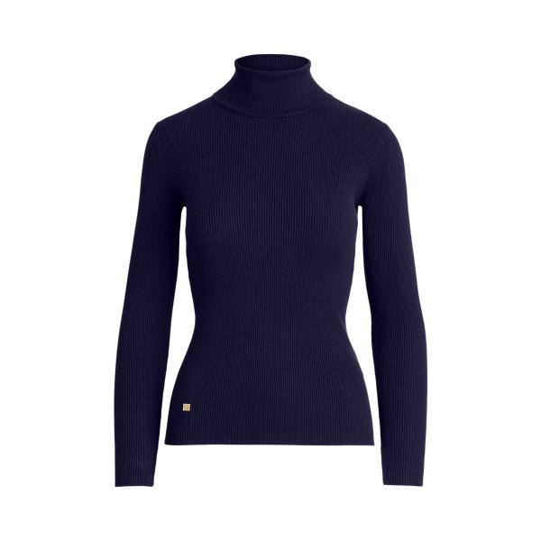 Lauren Ribbed Turtleneck Sweater