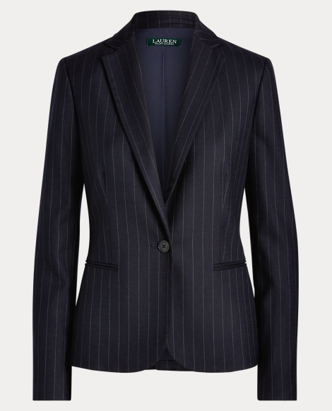 Pinstripe Stretch Blazer