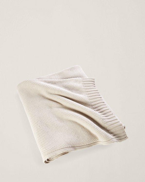 Ariel Knit Cotton Bed Blanket