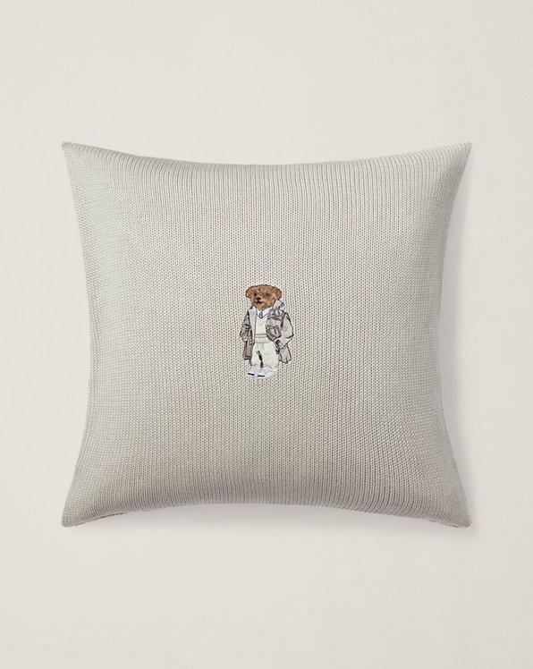 Cuscino d'arredo in flanella con orsetto