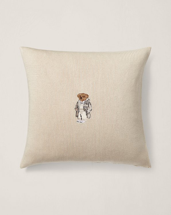 Cojín decorativo con Polo Bear de franela