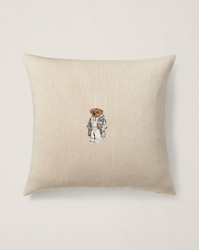 Flannel Bear Throw Pillow