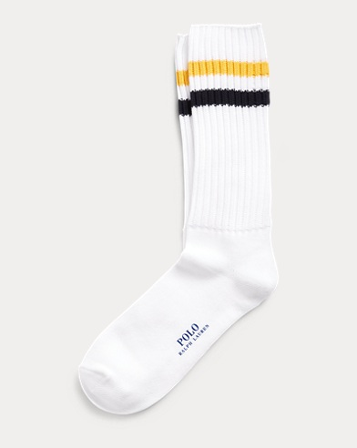 Varsity-Striped Boot Socks