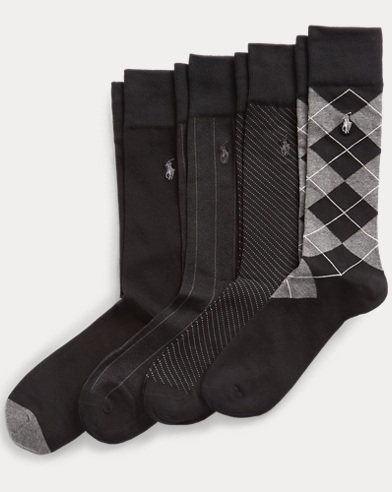 Patterned Dress Sock 4-Pack