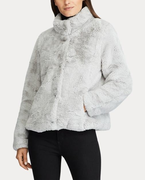 Outlet myymälä kodikas raikas tukkukauppa Faux-Fur Mockneck Chubby Coat