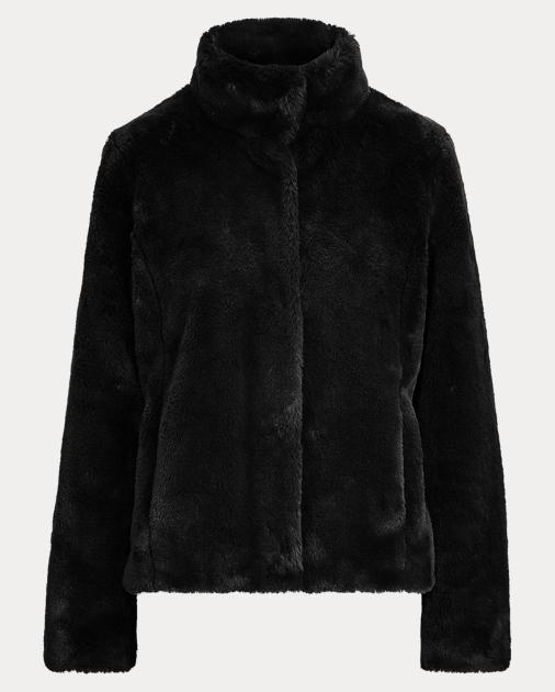 Faux Fur Mockneck Chubby Coat by Ralph Lauren
