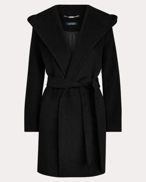code promo 59d6b 71d47 Hooded Wrap Coat