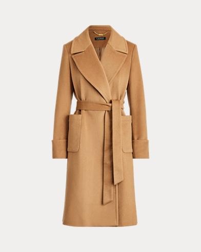 Manteau portefeuille laine mélangée
